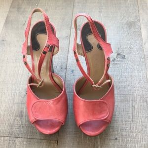 COPY - Coral Cholé wedges